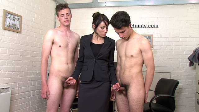 Naked girl with males organ