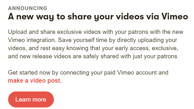 How to upload videos to patreon
