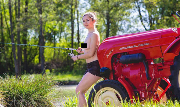 Sexy country girls on tractors naked