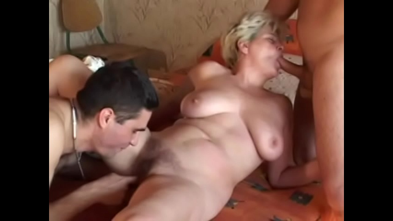 Mature wife used by two cocks