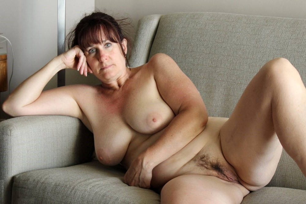 real hairy older lady posing nude