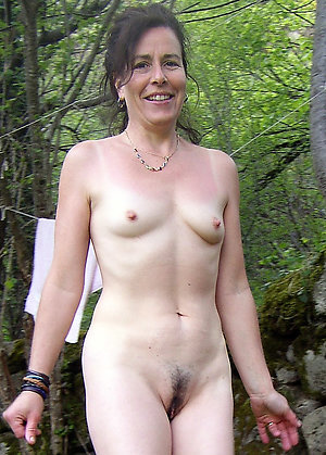 Mature old little tits