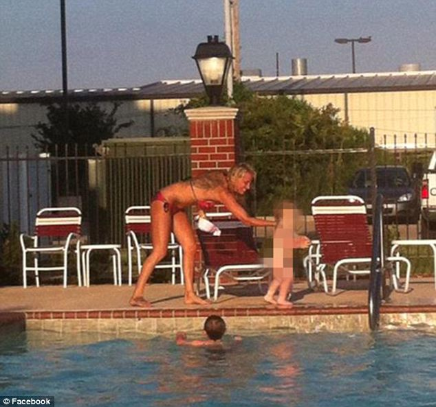 Mother daughter skinny dipping