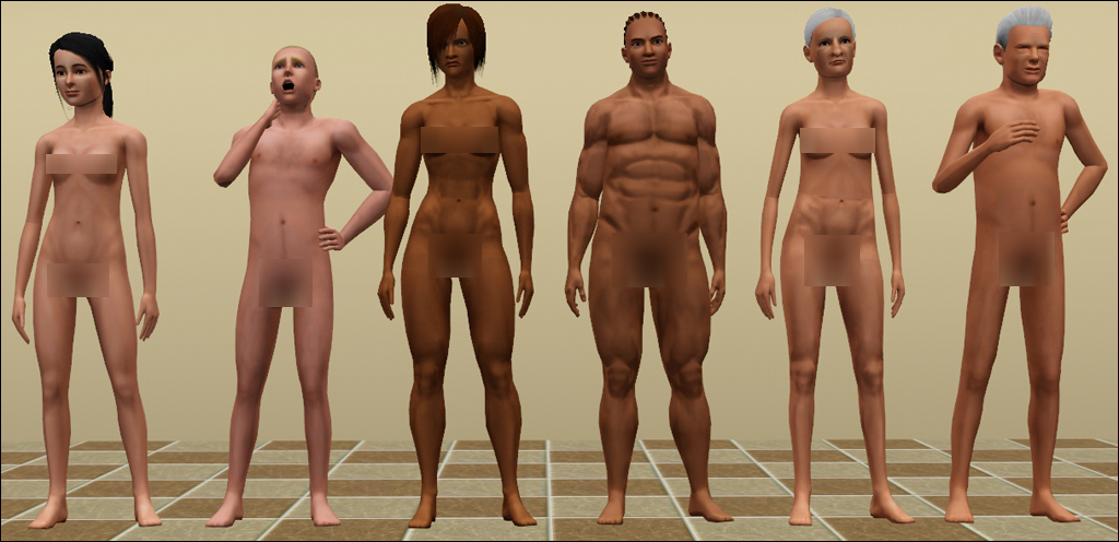 Sims male nude patch
