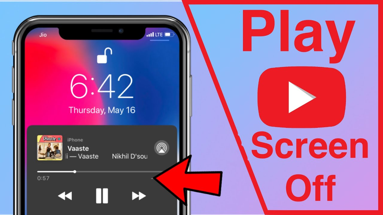 Youtube music background play